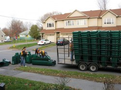 Green Bins being delivered