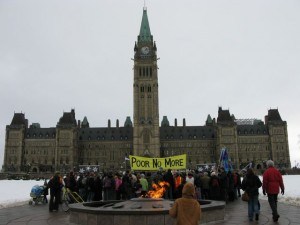 Poor No More Rally on Parliament Hill