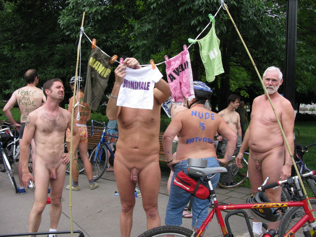 Nude men world naked bike ride join