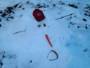 The spring snowman's last gasp