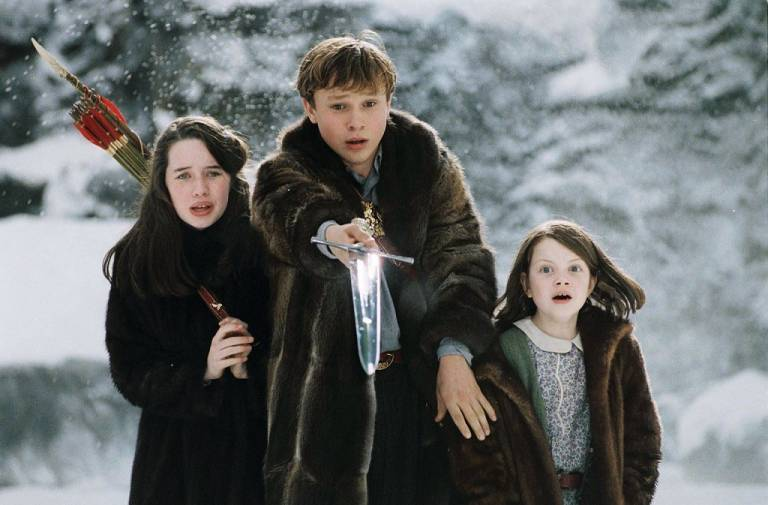 the lion the witch and the wardrobe movie vs book Create a kid's meal package for a fast-food restaurant to promote the lion, the witch, and the wardrobe decorate it with scenes from the book  movie vs book .